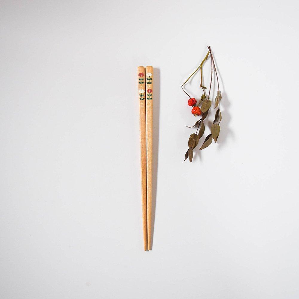 yuuyuu箸 シラカバの木  くも花箸 ピンク