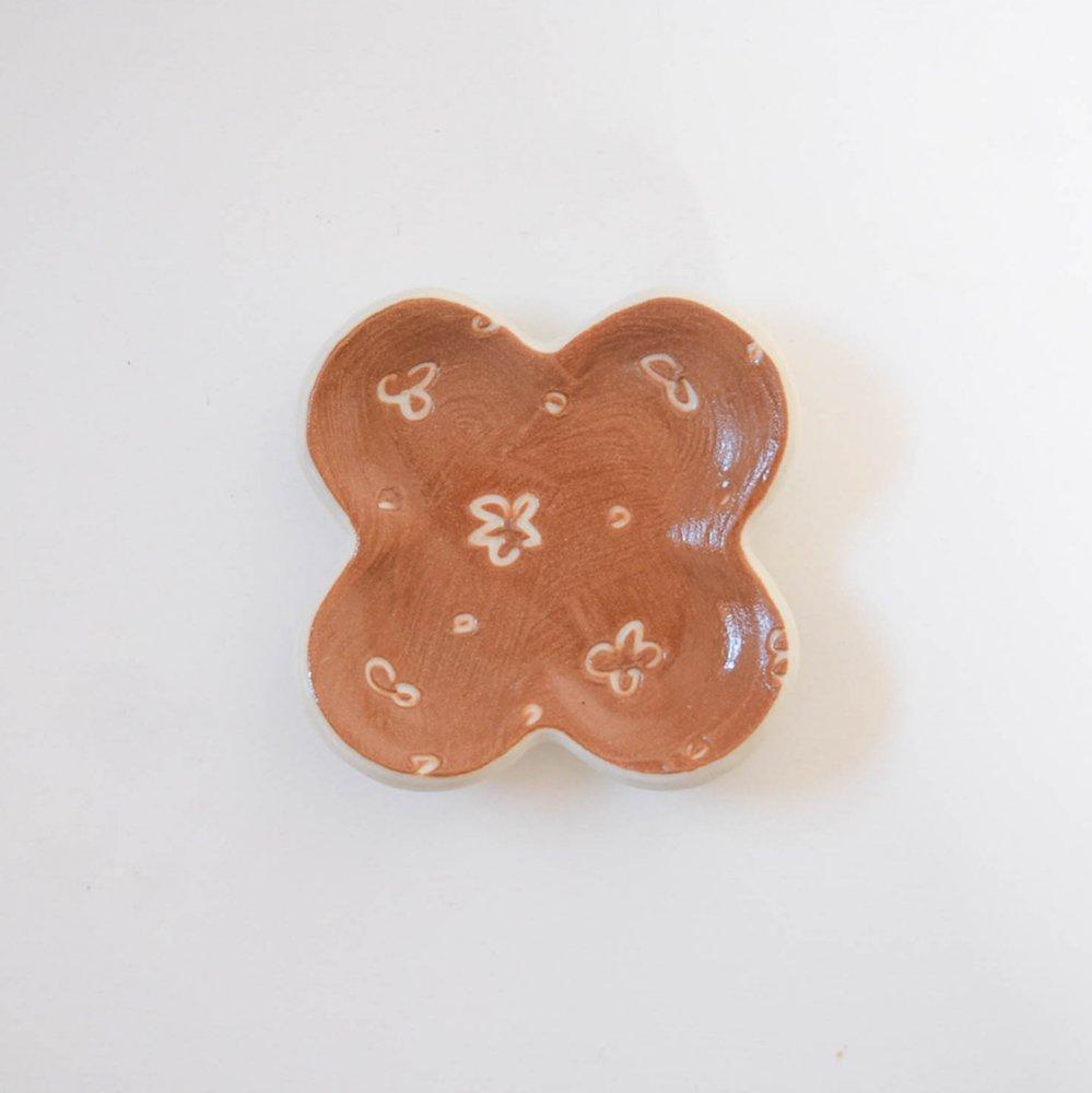 Atelier chie 豆皿 よつは ブラウン