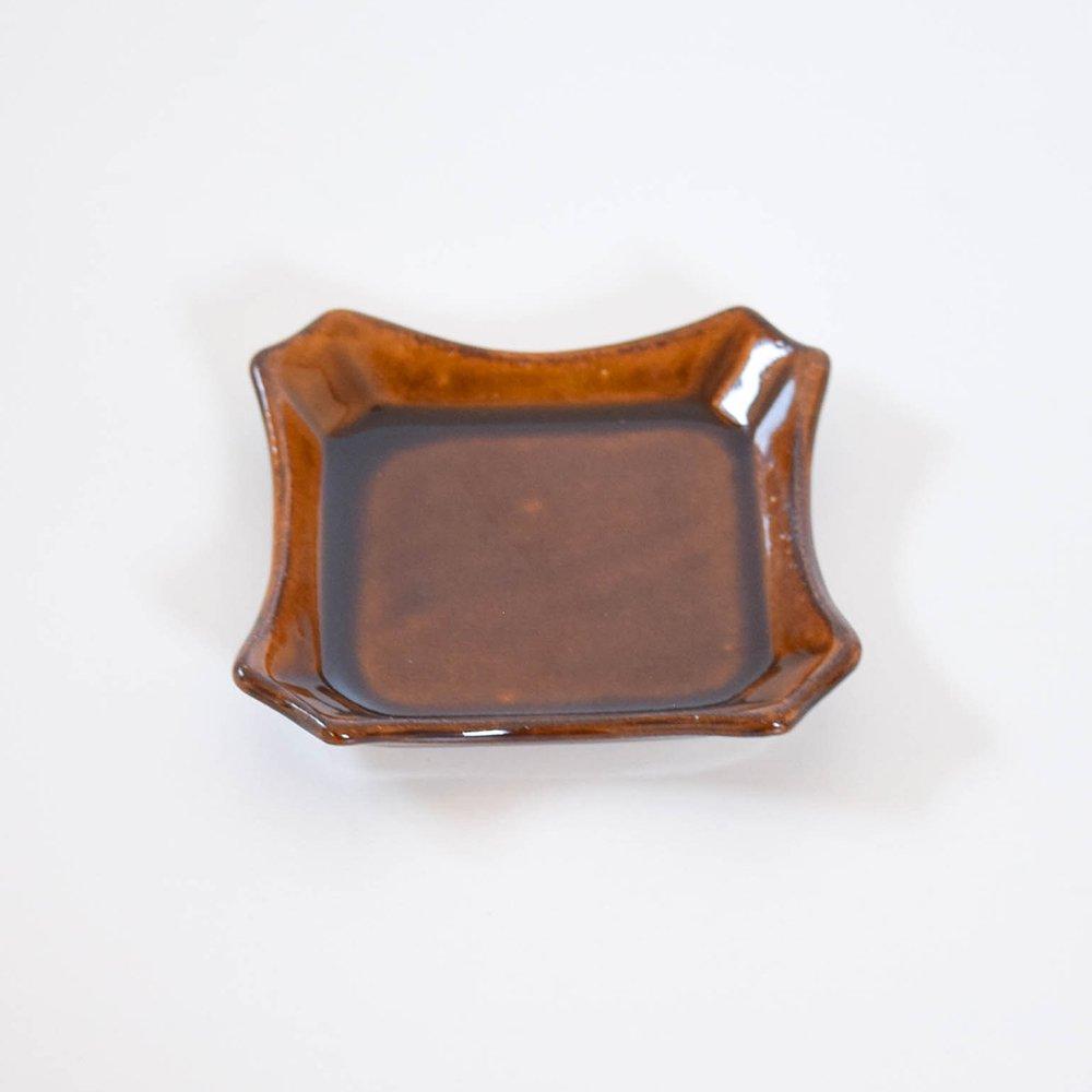 大塚菜緒子 hirari 角切皿 茶