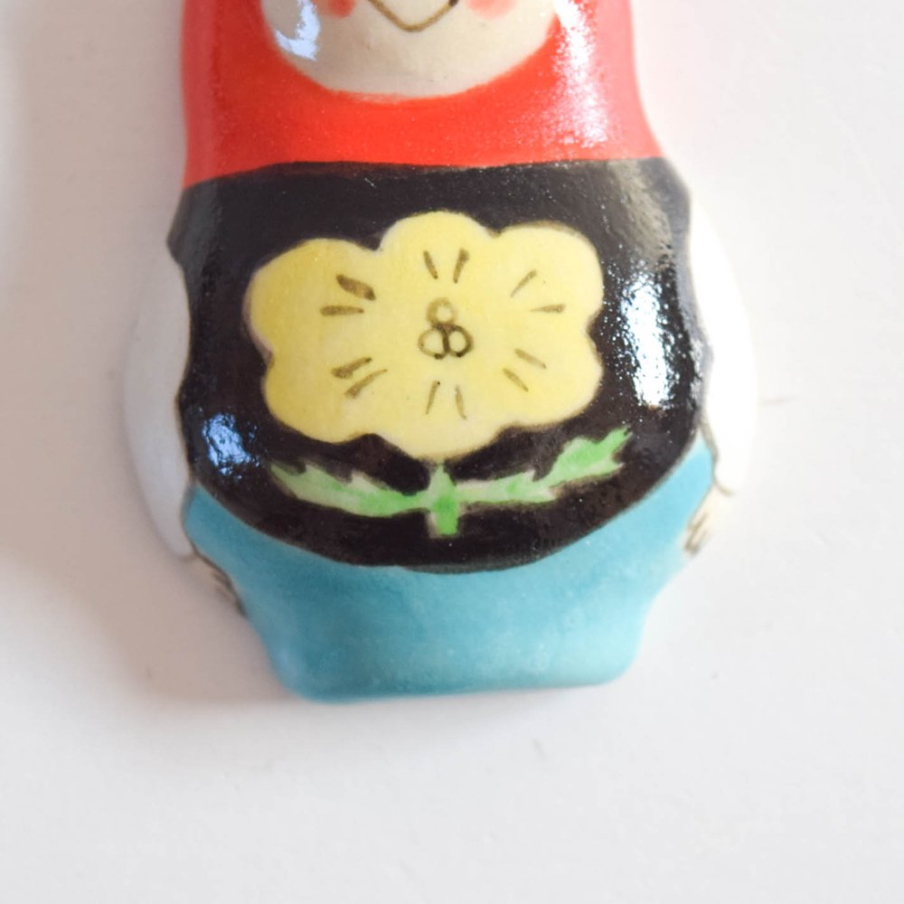 五月女京子 マトリョーシカ  箸置き 赤