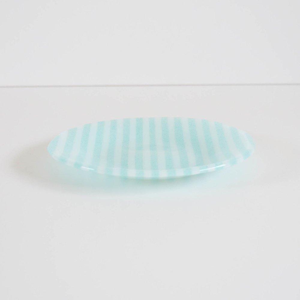 Mai Ikarugi ストライプ  ライトブルー×ホワイト