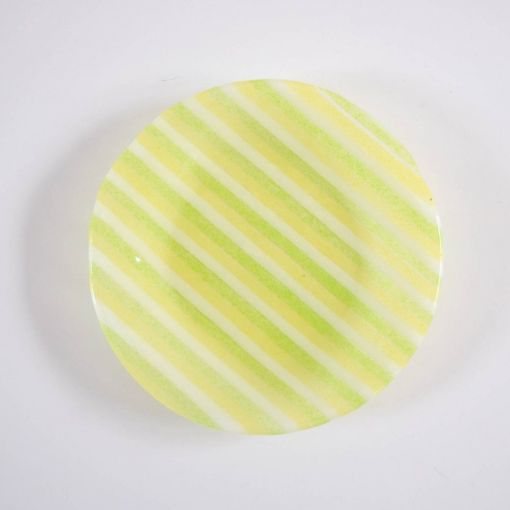 Mai Ikarugi ストライプ  ライトグリーン×イエロー×ホワイト