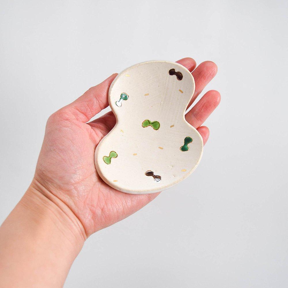 岡洋美 ひょうたん豆皿