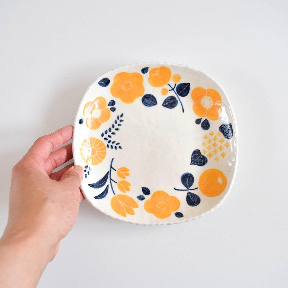 nomichi 中皿 花 黄色
