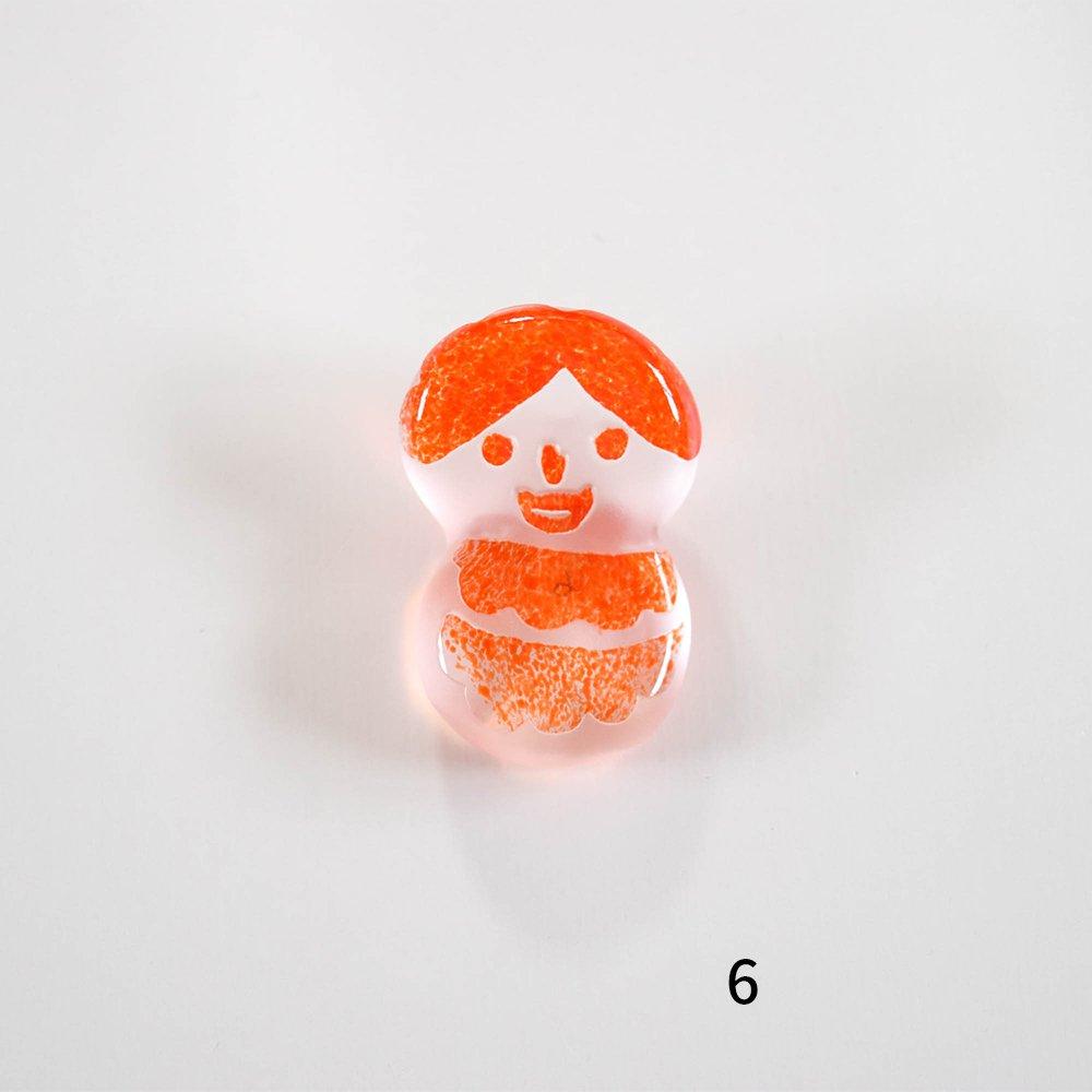 Tickle glass  箸置き家族 赤-B