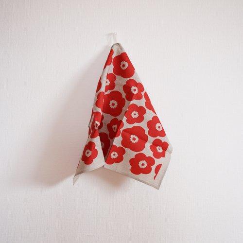 heaven  red poppy  ティータオル L