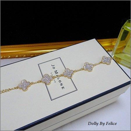 Cz Diamond  5clover pavet bracelet(...