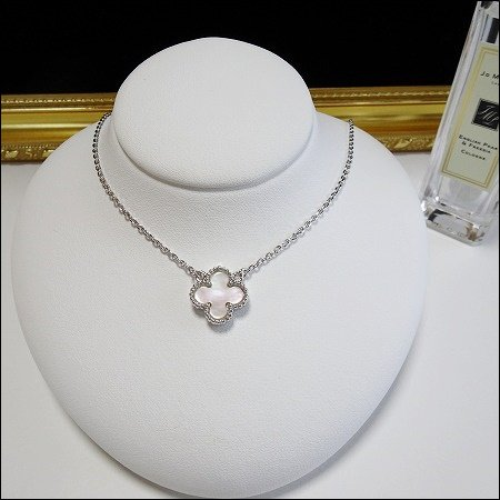 11/27〜順次発送 mother of pearl clover necklace(シルバー)(13mm)