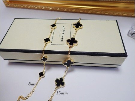 11/27〜順次発送 Onyx 5clover  bracelet (ゴールド)
