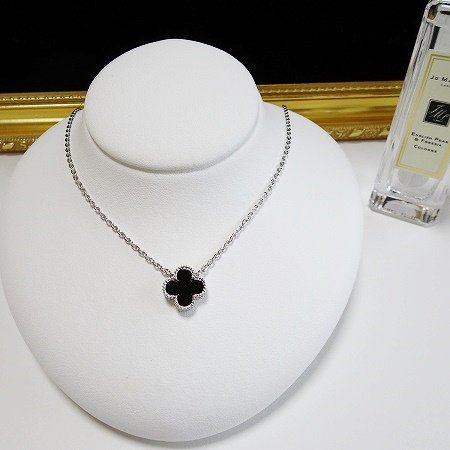 onyx clover necklace(シルバー)(11mm)