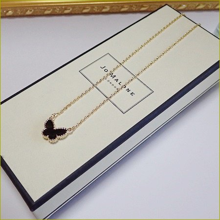 Onyx  papillon Necklace(ゴールド)