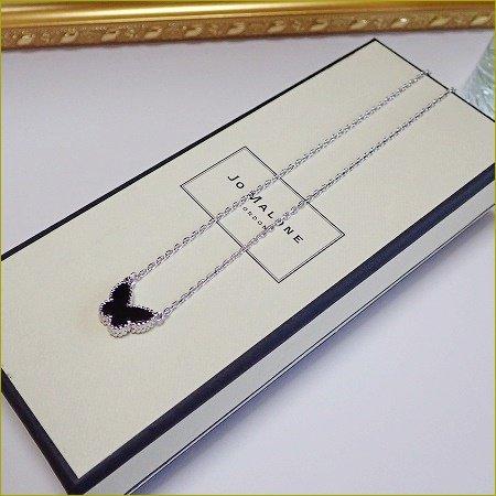 Onyx  papillon Necklace(シルバー)