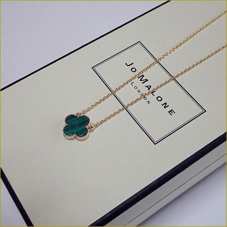 clover onyx necklace(ゴールド)(15...