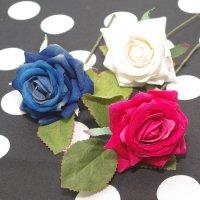 全3色 小さいマットな薔薇 5cm