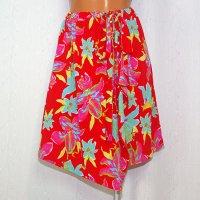 ラップスカート風のオーバースカート Lily レッド