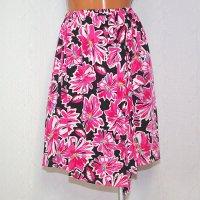 ラップスカート風のオーバースカート 花柄 PK