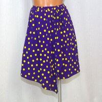 ラップスカート風のオーバースカート 水玉13mm PU×Y