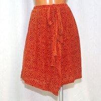 ラップスカート風のオーバースカート ベロア素材 No.925