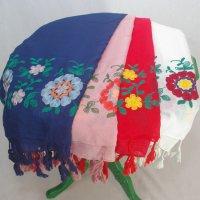 全4色 花の刺繍ストール
