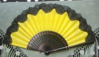 アバニコ ブラックレース飾り付き 32cm イエロー