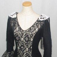 HOMBRERAS 肩飾り ブラック&ホワイト