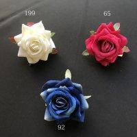 全3色 小さいマットな薔薇 5cm クリップ付