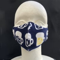 コットン素材のマスク BEER(インナーマスク付き)