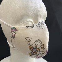 コットンガーゼ素材のマスク 踊る妖怪(インナーマスク付き)