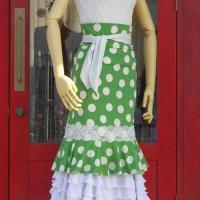 ベルト付きショートスカート レース飾り付き D35 GR×OWH/WH