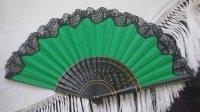 アバニコ ブラックレース飾り付き 32cm グリーン