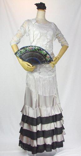 パニョレタ レース素材のピコシージョ ホワイト/オフホワイト
