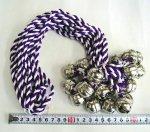 #100 たすき鈴「紫・白」(小)(10本)