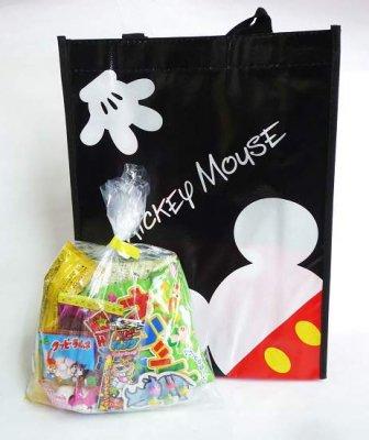■#25 駄菓子 詰合せ・ディズニーミッキー&ミニーたて型レッスンバック入り・200円