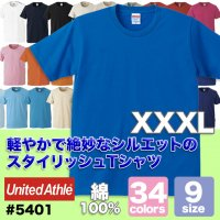 <img class='new_mark_img1' src='https://img.shop-pro.jp/img/new/icons30.gif' style='border:none;display:inline;margin:0px;padding:0px;width:auto;' />5.0オンス レギュラーフィット Tシャツ#5401-01 大きいサイズ XXXL ユナイテッドアスレ UNITED ATHLE 無地
