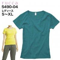 6.2オンス CVC フライスTシャツ(ガールズ) ルッカ rucca  #5490-04