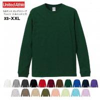 5.6オンスロングスリーブTシャツ(1.6インチリブ)#5011-01 ユナイテッドアスレ UNITED ATHLE メンズ 無地