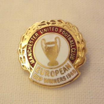 マンチェスターユナイテッド ヨーロッパ優勝記念バッジ 1968