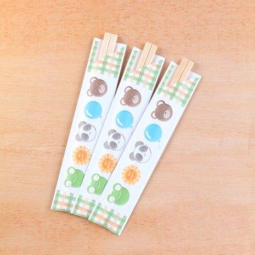 こども用割箸 50膳入【どうぶつ柄】短い袋入りのお箸/かわいいどうぶつ絵柄つき/ご家庭使いにもピッタリ
