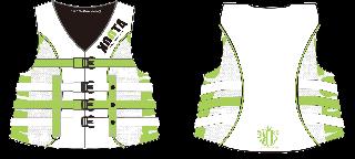 【白ベース】KOOTA 4BUCKLE LIFE VEST(USCG/JCI認定品)(GREEN)