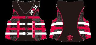 【黒ベース】KOOTA 4BUCKLE LIFE VEST(USCG/JCI認定品)(RED)