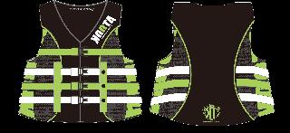 【黒ベース】KOOTA 4BUCKLE LIFE VEST(USCG/JCI認定品)(GREEN)