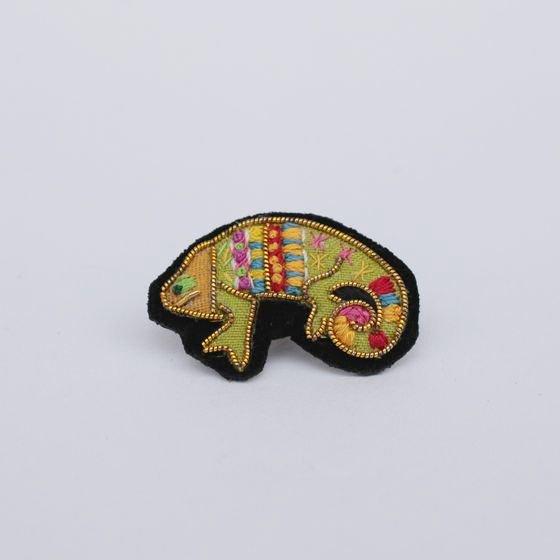 Fil D'araignee フィル・ダレニエ ピンバッジ chameleon