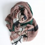 tamaki niime 玉木新雌 roots shawl w/c square 【送料無料】 i-SQ91r