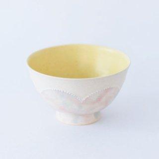 市野ちさと 丹泉窯 花釉彩ごはん茶碗 丹波焼