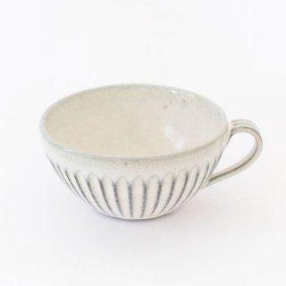 丹波焼 雅峰窯 スープカップ 白