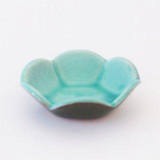 丹波焼 雅峰窯 梅小鉢 トルコブルー
