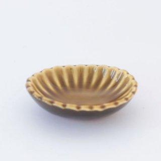 丹波焼 雅峰窯 たまり小皿 アメ