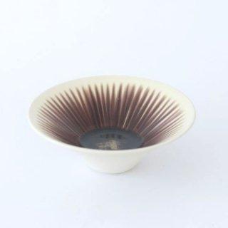 和田山真央 4.5寸 いちじく流し 浅鉢