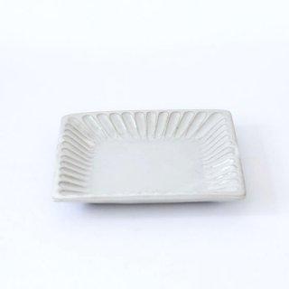 TANBA STYLE Squar Plate S WHT 丹波焼 タンバスタイル