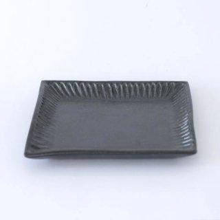 TANBA STYLE Squar Plate M BLK 丹波焼 タンバスタイル